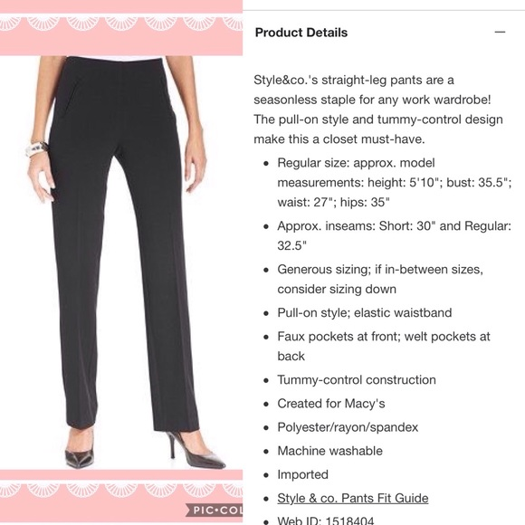 Style Co Black Tummy Control Trousers